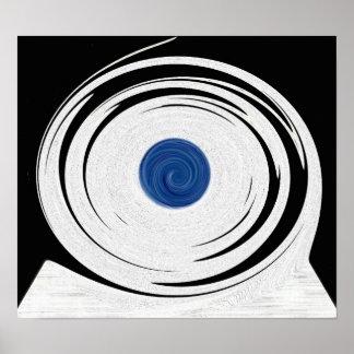 Tornado Optical Illusion Poster