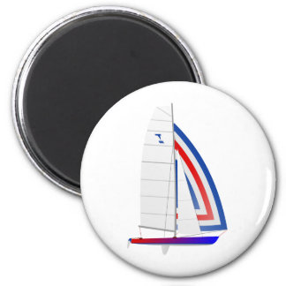 Tornado Racing Sailboat onedesign Olympic Class 2 Inch Round Magnet