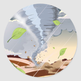 Tornado Twister Classic Round Sticker