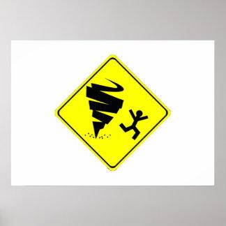 Tornado Warning Sign Poster