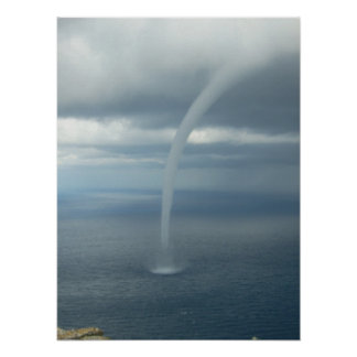 Tornado Waterspout Over Water Posters