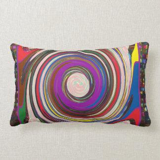 Tornado Whirlwind HighTide Waves colourful art Lumbar Pillow