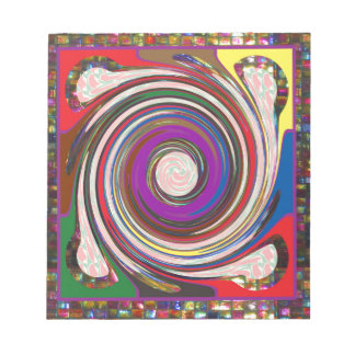 Tornado Whirlwind HighTide Waves colourful art Notepads