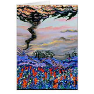"""Tornado With Bluebonnets,"" by Nina Beall Card"