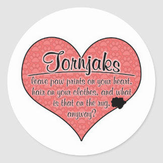 Tornjak Paw Prints Dog Humor Round Stickers