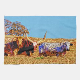 Toro Tres Kitchen Towel Western Bull