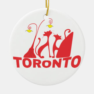Toronto 1 round ceramic ornament