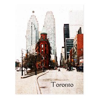 Toronto bâtiment plat de fer carte postale