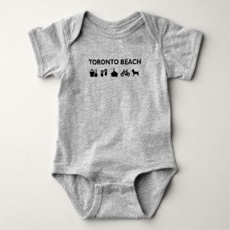 Toronto Beach Icons Monotone Black Baby Bodysuit
