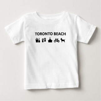 Toronto Beach Icons Monotone Black Baby T-Shirt
