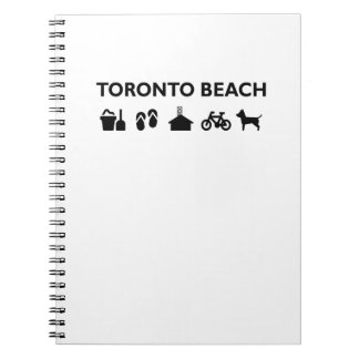 Toronto Beach Icons Monotone Black Notebooks