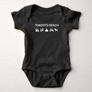 Toronto Beach Icons Monotone Dark Baby Bodysuit