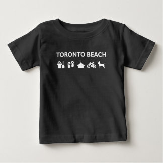 Toronto Beach Icons Monotone Dark Baby T-Shirt