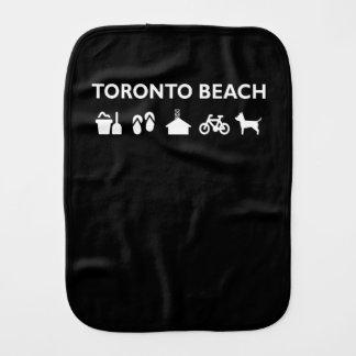 Toronto Beach Icons Monotone Dark Burp Cloth