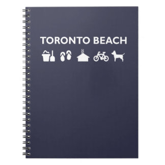 Toronto Beach Icons Monotone Dark Notebooks