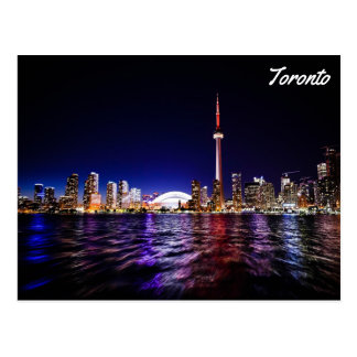 Toronto by night postcard