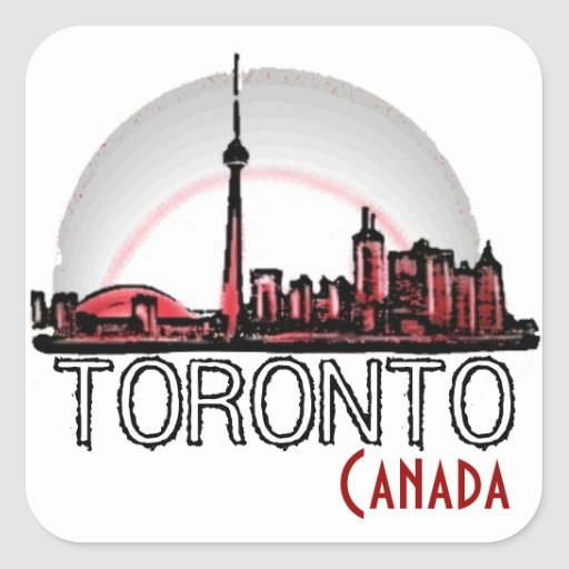 Toronto Canada artistic skyline stickers