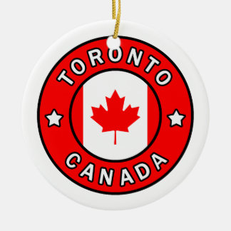 Toronto Canada Ceramic Ornament