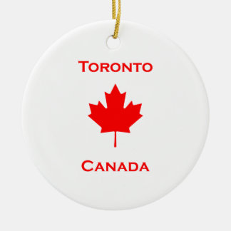 Toronto Canada Maple Leaf Ceramic Ornament