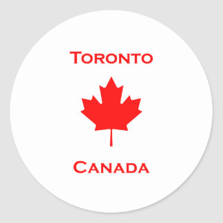 Toronto Canada Maple Leaf Round Sticker