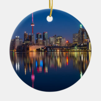 Toronto Canada night cityscape Ceramic Ornament