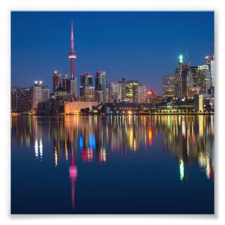 Toronto Canada night cityscape Photo Print