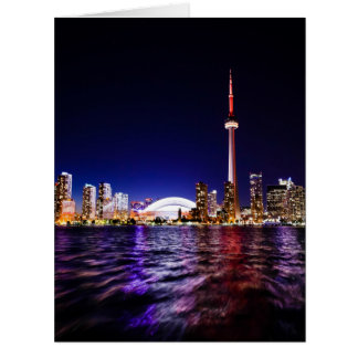 Toronto, Canada Night Skyline Card