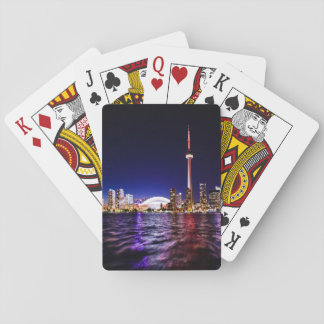Toronto, Canada Night Skyline Playing Cards