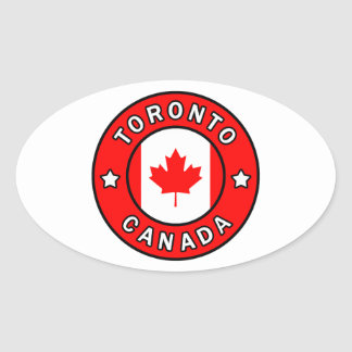 Toronto Canada Oval Sticker