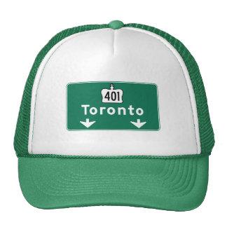 Toronto, Canada Road Sign Trucker Hat