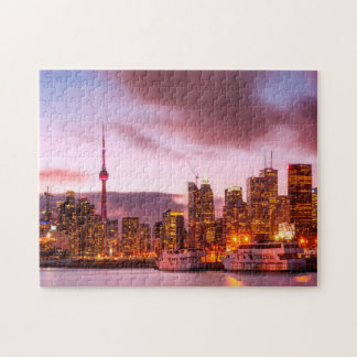 Toronto Canada  skyline cityscape. Jigsaw Puzzle