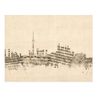 Toronto Canada Skyline Sheet Music Cityscape Postcard