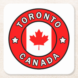 Toronto Canada Square Paper Coaster