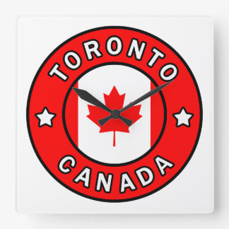Toronto Canada Square Wall Clock