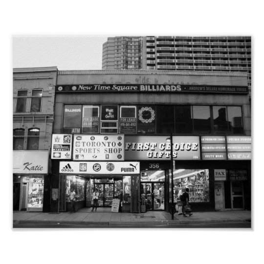 Toronto Canada Store Front Black And White Photo Poster