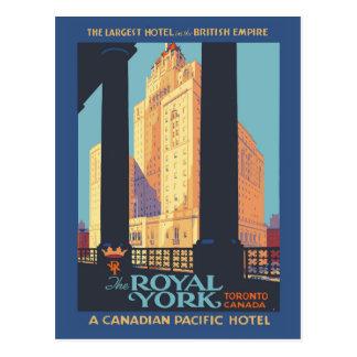 Toronto Canada vintage travel poster Postcard