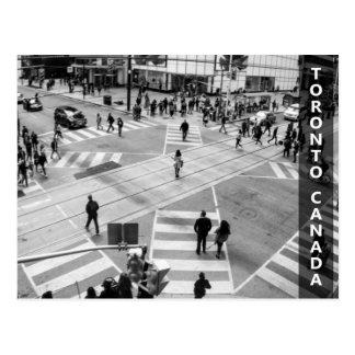 Toronto, Canada: Yonge-Dundas Intersection in B&W Postcard