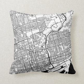 TORONTO City Map Throw Pillow