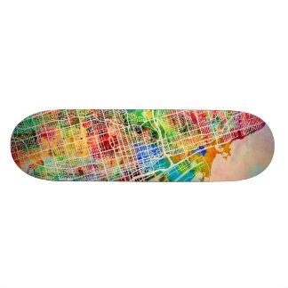 Toronto City Street Map Skate Deck