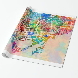 Toronto City Street Map Wrapping Paper