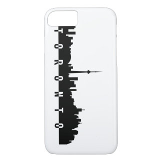 toronto cityscape canada city symbol black silhoue iPhone 8/7 case