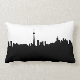 toronto cityscape canada city symbol black silhoue lumbar pillow