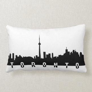 toronto cityscape canada city symbol black silhoue lumbar pillow