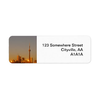 Toronto Cityscape Custom Return Address Labels