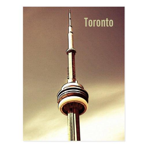 Toronto CN tower postcard