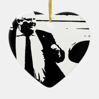Toronto Crack Smoking Mayor Rob Ford Ceramic Heart Ornament