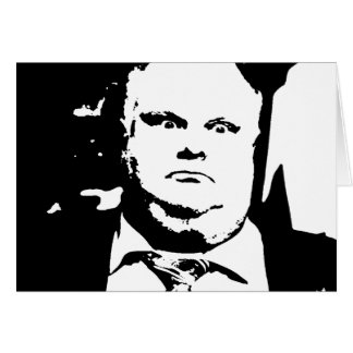 Toronto Crack Smoking Mayor Rob Ford Greeting Card