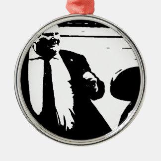 Toronto Crack Smoking Mayor Rob Ford Silver-Colored Round Ornament