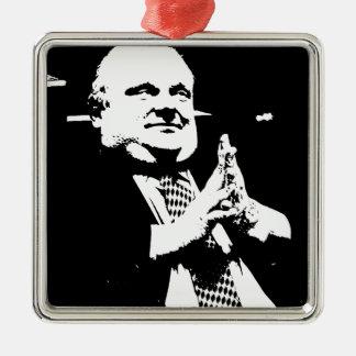 Toronto Crack Smoking Mayor Rob Ford Silver-Colored Square Ornament