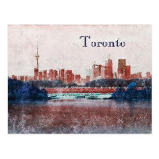 Toronto dreamy skyline postcard
